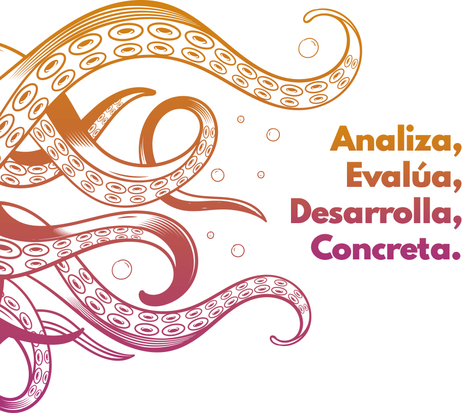 Analiza, Evalúa, Desarrolla, Concreta.